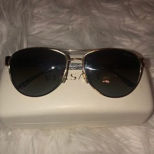 Accessories - 💯 Authentic White and Gold Versace Sunglasses